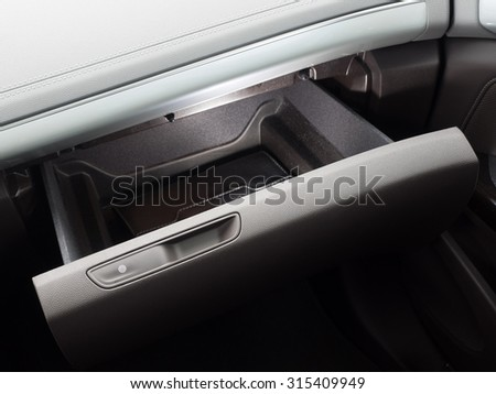 Luxurious car glove compartment box with touch lock