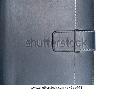 Luxurious deep brown leather organizer on white background - stock photo