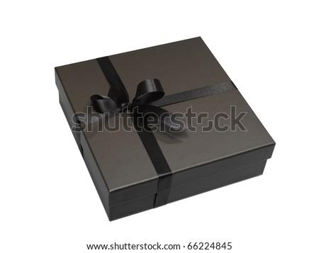 Luxurious gift box on white background - stock photo