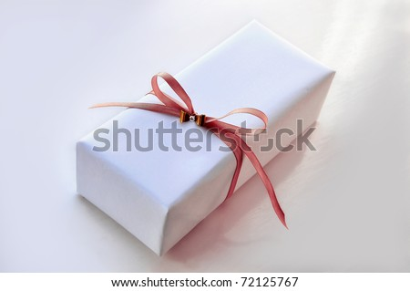 Luxurious Gift Box with Pink Ribbon