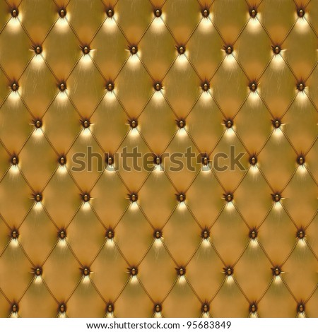 luxurious golden leather - stock photo