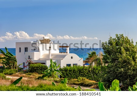 Luxurious holiday beach villa for rent on Cyprus - stock photo