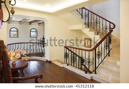 Luxurious home interior for a modern upscale home - stock photo