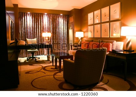 Luxurious hotel suite perfect for a business person