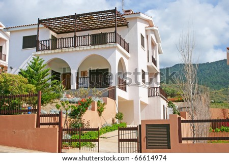 Luxurious house in Cyprus. - stock photo
