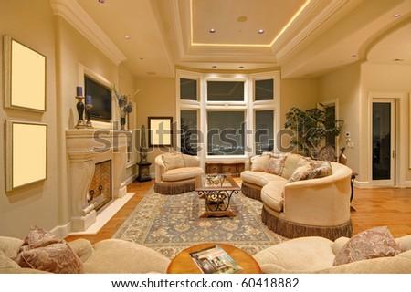 Luxurious Living Room - stock photo
