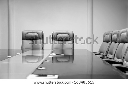 luxurious meeting room in a big corporation - stock photo