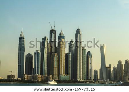 Luxurious Residence Buildings in Dubai Marina, UAE  - stock photo