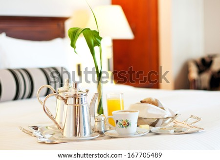 Luxurious Room Service - stock photo