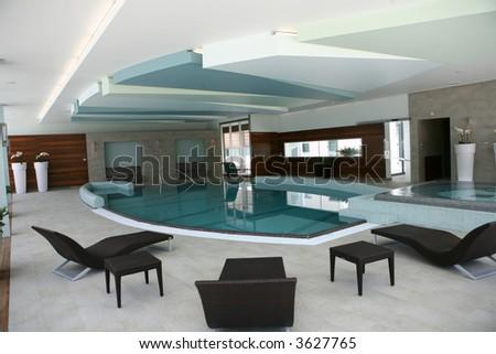 Luxurious spa/wellness interior - stock photo