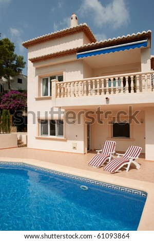 Luxurious villa in Southern Spain - stock photo