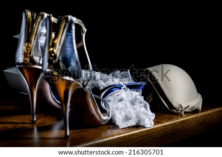 Luxury accessories for wedding - stock photo