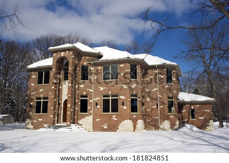 Luxury American House - new construction - stock photo