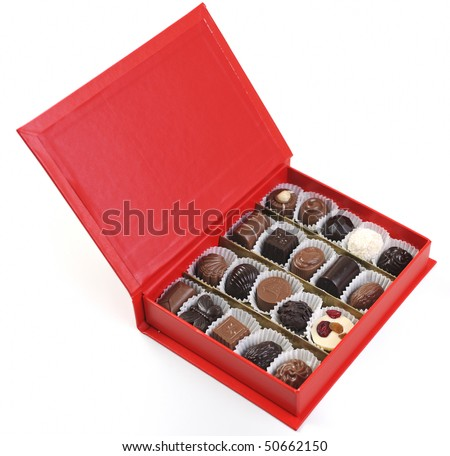 luxury and sweet praline and chocolate decoration food close up - stock photo