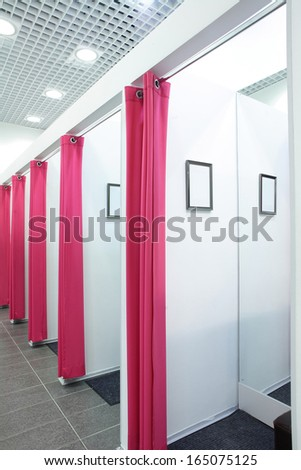 luxury and very clean dressing room in european style