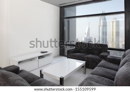 luxury and very clean empty european room - stock photo