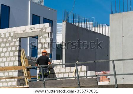 luxury apartments under construction- Gdynia, Poland - stock photo