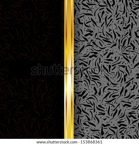Luxury background black and gold. Perfect as invitation or announcement. For vector version, see my portfolio.  - stock photo