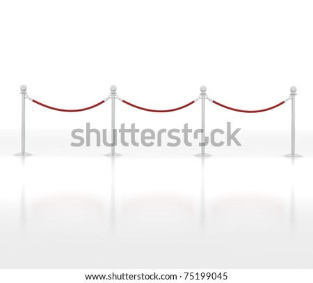 Luxury Barrier isolated on white - 3d illustration