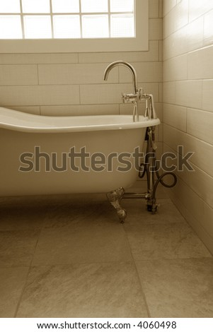 luxury Bathroom close up shot - stock photo