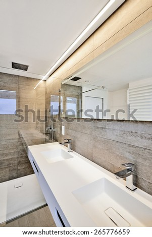 luxury bathroom estate home shower - stock photo