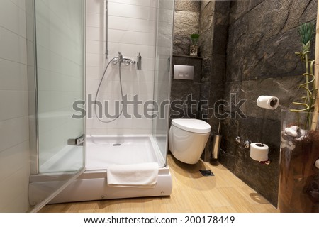 Luxury bathroom interior - stock photo