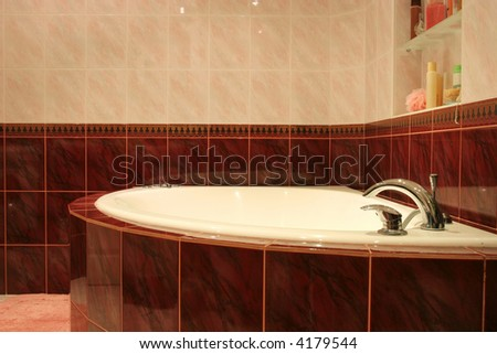 Luxury bathroom interior - stock photo