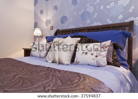luxury bedroom detail - stock photo