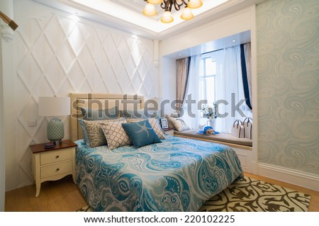 luxury bedroom with nice decoration