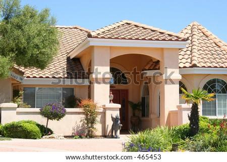 Luxury Beige Home - stock photo