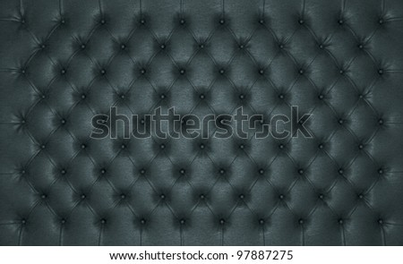Luxury Black buttoned leather texture. Large resolution - stock photo