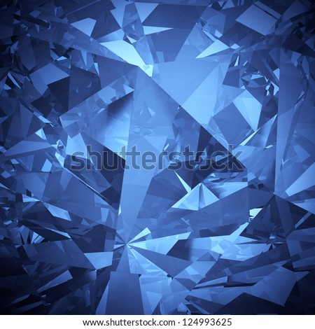 Luxury blue crystal facet background - stock photo