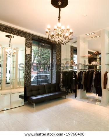 luxury boutique interior - stock photo