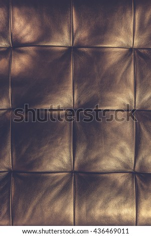 Luxury brown leather close-up background - stock photo