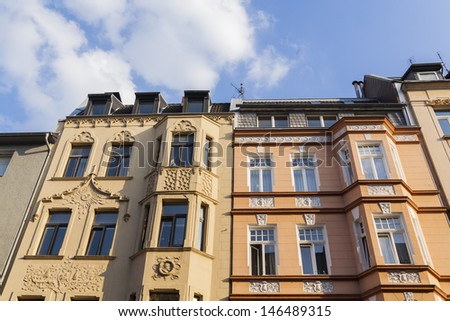 luxury buildings and flats in berlin, germany