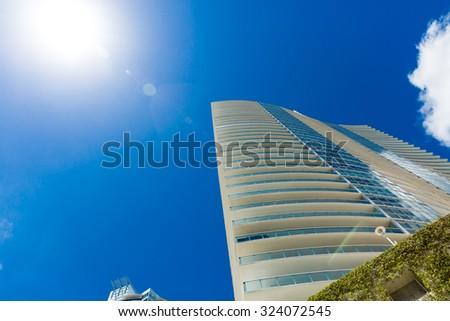 Luxury buildings in Miami, Florida, USA - stock photo