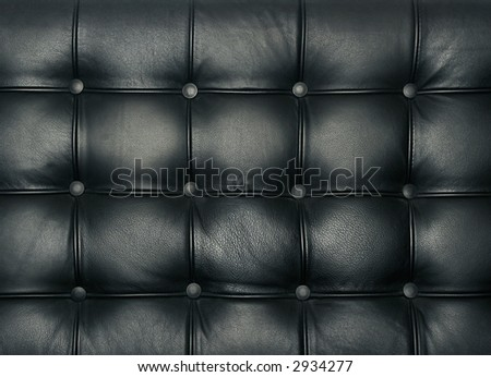 Luxury buttoned leather pattern - stock photo