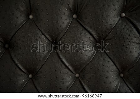 Luxury buttoned ostrich leather pattern. - stock photo