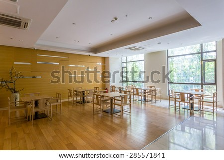 Luxury cafe interior and furniture
