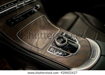 Luxury Car Control Buttons Interior Details Stock Photo 100 Legal