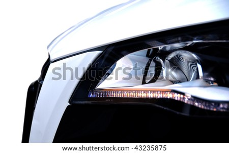 Luxury car front side - stock photo