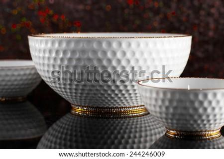 Luxury ceramic tableware  - stock photo