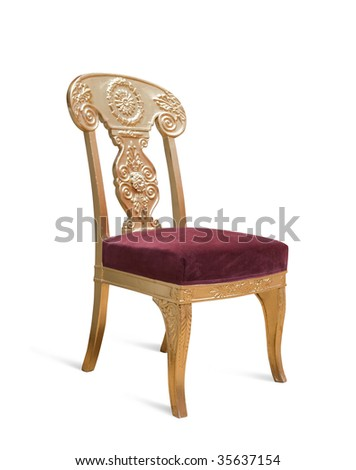 Luxury chair from?the St.Petersburg Hermitage collection - stock photo