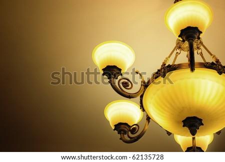 Luxury chandelier - stock photo