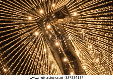Luxury Chandelier Light pattern background  - stock photo