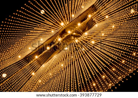 Luxury Chandelier Light pattern background
