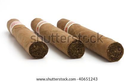luxury cigar - stock photo