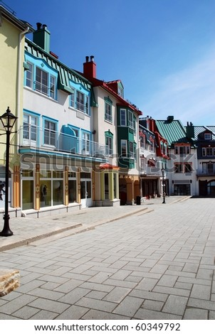 Luxury colored place at Mont-Tremblant - stock photo
