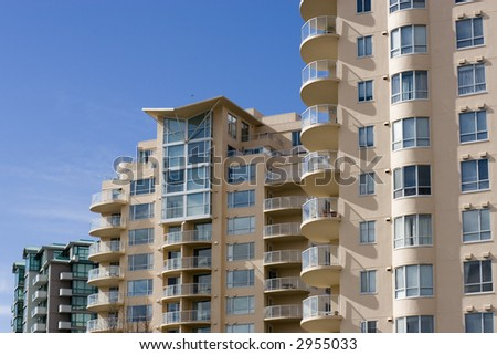 Luxury condo in Vancouver, British Columbia. - stock photo