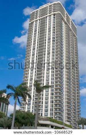 Luxury Condominium at Miami Beach, Florida - stock photo